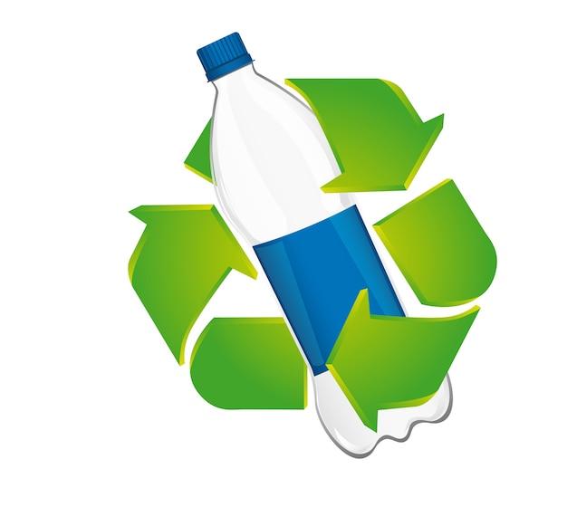 Reciclar icono sobre fondo blanco, ilustración vectorial