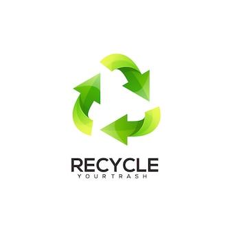 Reciclar logo ilustración degradado colorido