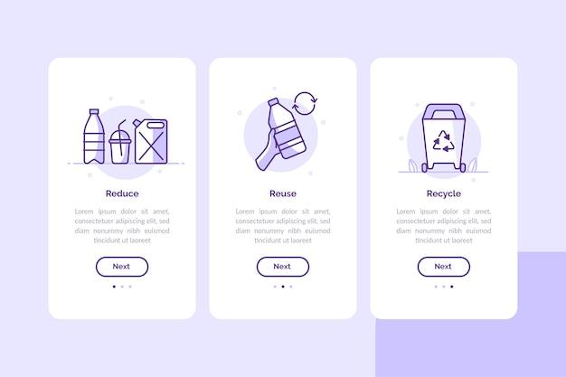Reciclar pantallas de aplicaciones de incorporación