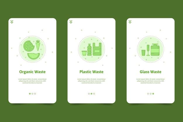 Reciclar paquete de pantallas de aplicaciones de incorporación