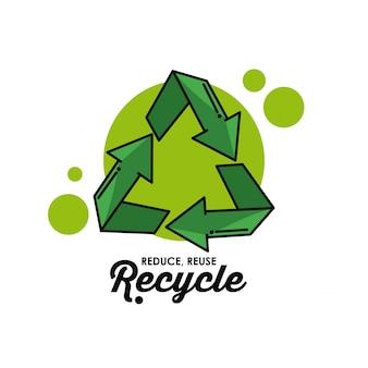 Reciclar el símbolo redondo