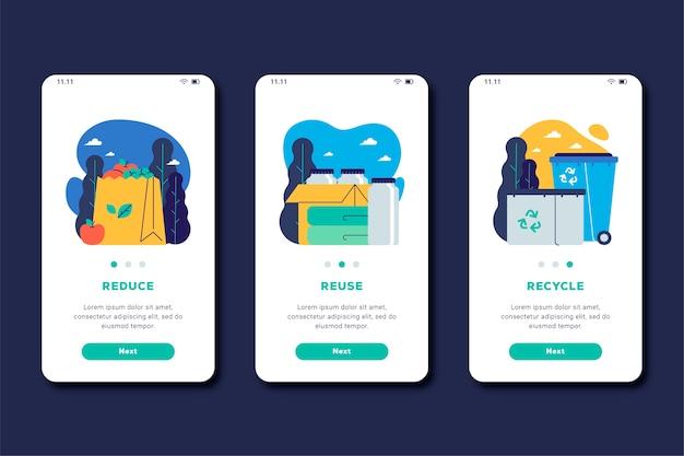 Reciclar el tema de pantalla de la aplicación de incorporación
