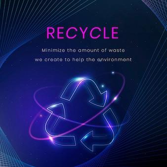 Reciclar vector de plantilla de banner de medio ambiente