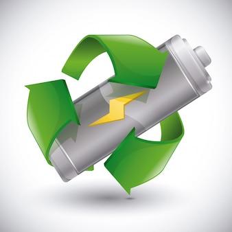 Recicle el diseño de la batería.