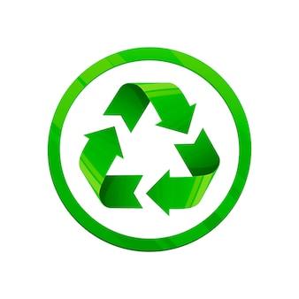 Recicle la ilustración verde.