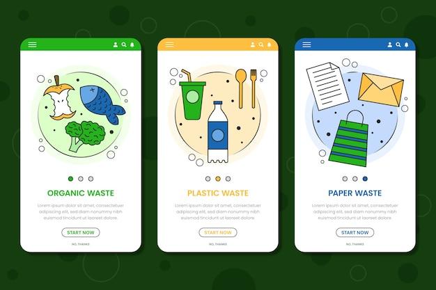 Recicle las pantallas de la aplicación de incorporación