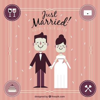 Recién casados en estilo vintage