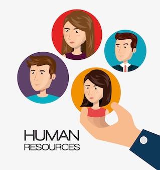 Reclutamiento de recursos humanos contratado diseño aislado