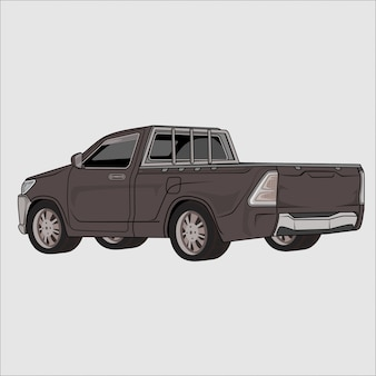 Recogida del coche en la ilustración de perfil