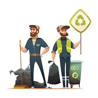Recogida de residuos y basura ecológicamente responsables.