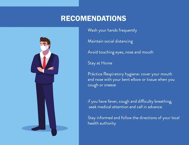 Recomendaciones para evitar covid en un operador de la industria