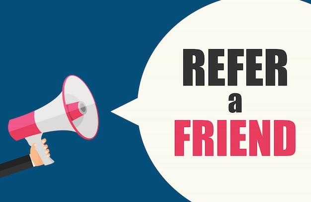 Recomienda un banner de amigo con megáfono