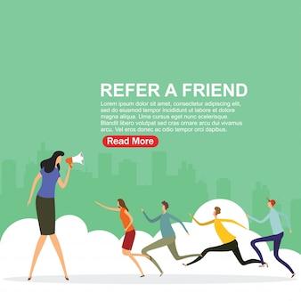 Recomiende una página de inicio de amigo