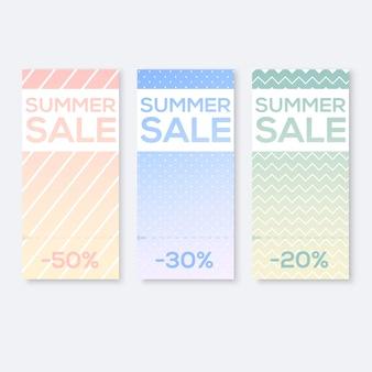 Recopile carteles de venta con cupón de corte, ilustración