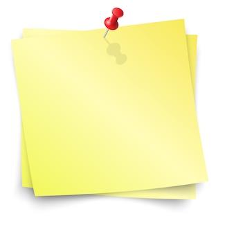 Recordatorio amarillo con pin