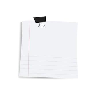 Recordatorio cuadrado en blanco papel nota vector