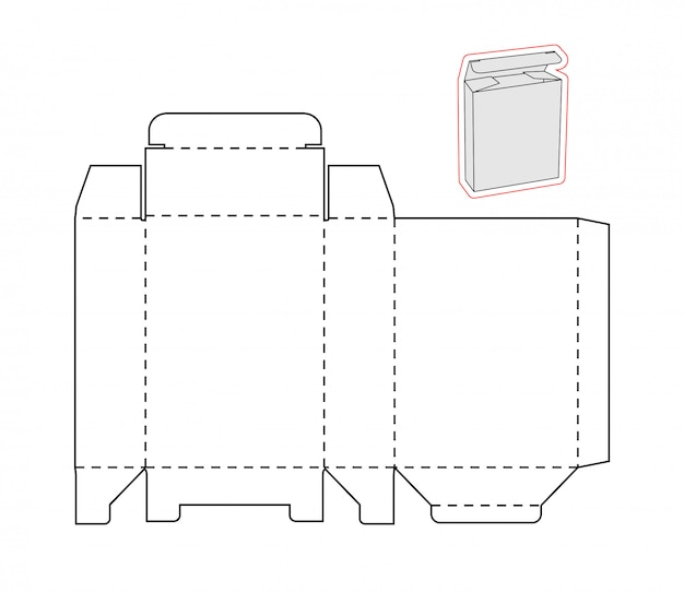 Recorte la plantilla de una caja simple