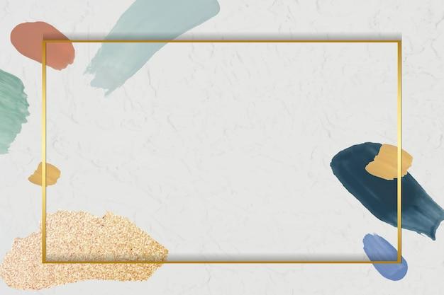Rectángulo dorado en un marco de elemento abstracto