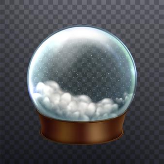 Recuerdo de celebración de año nuevo de globo de nieve