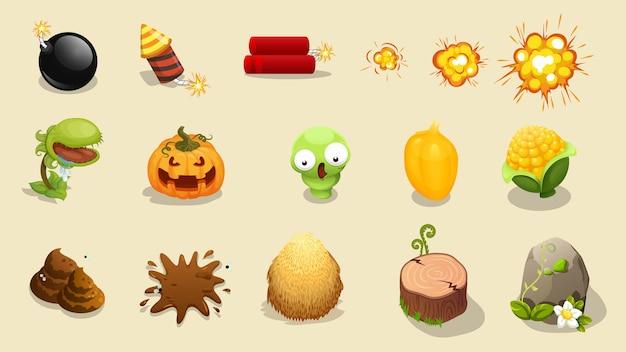Recurso de dibujos animados para la interfaz de usuario del juego