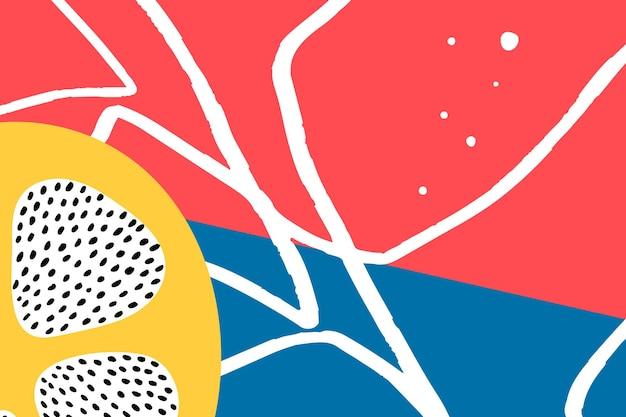 Recurso de diseño de fondo abstracto de fruta de limón de verano tropical
