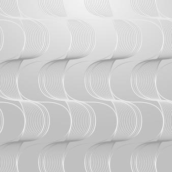 Recurso de diseño de fondo estampado abstracto de onda gris transparente