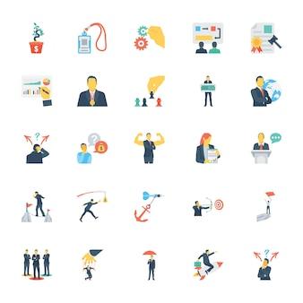 Recursos humanos y gestión iconos de colores 0