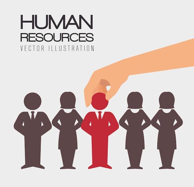 Recursos humanos, ilustración vectorial.