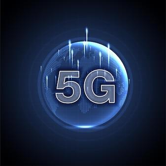 Red 5g, conexión inalámbrica a internet, conexión wi-fi, concepto de red de comunicación, banda ancha de alta velocidad