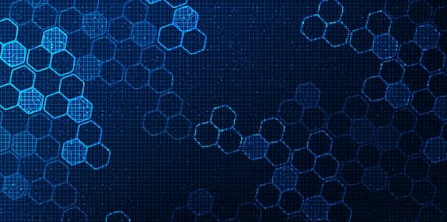Red de circuito digital futurista sobre fondo azul, tecnología de futuro y velocidad diseño de concepto, ilustración