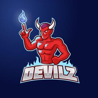 Red devil esport logotemplate