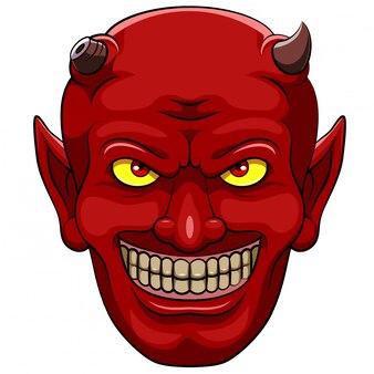 Red devil head mascota de ilustración