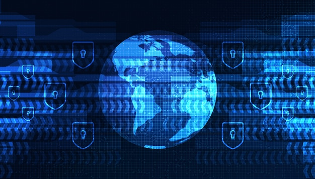 Red electrónica del mundo de digitaces en el diseño de concepto global del fondo, de la conexión y de la comunicación de la tecnología, ejemplo del vector.