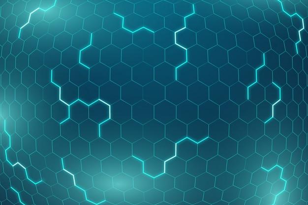 Red futurista hexagonal de fondo