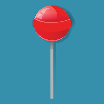 Red lollipop candy sweet icon vector de ilustración