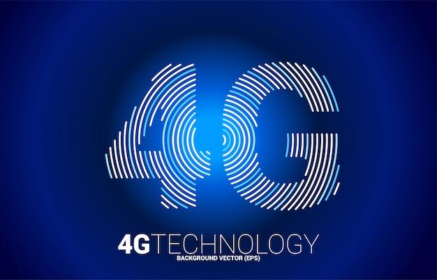 Red móvil de línea ondulada de señal 4g. concepto para la tecnología de la tarjeta sim de datos del teléfono móvil.