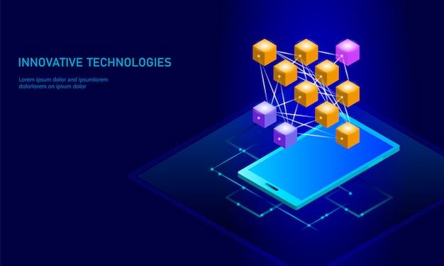 Red neuronal de aprendizaje profundo celular teléfono inteligente
