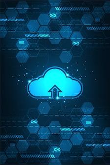 Red en la nube cargando información diversa a través de sistemas digitales.