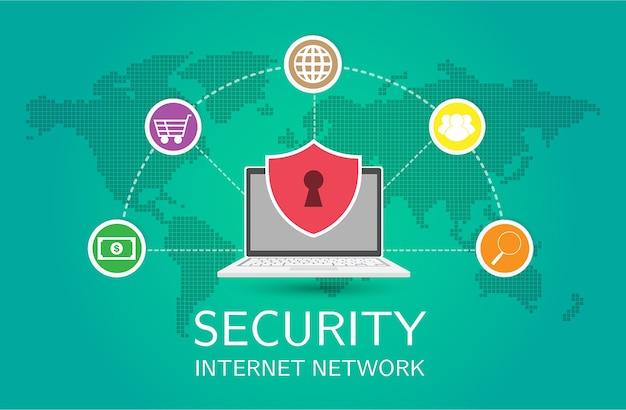 Red de seguridad para laptop