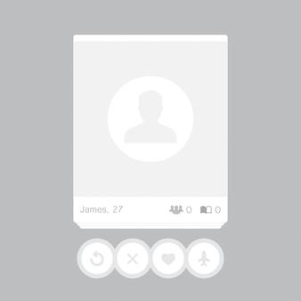 Red social de publicaciones. marco para tu foto.