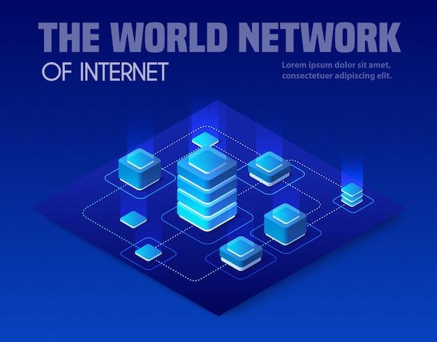Red de tecnología de negocios.