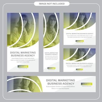 Redes sociales corporativas y publicaciones publicitarias