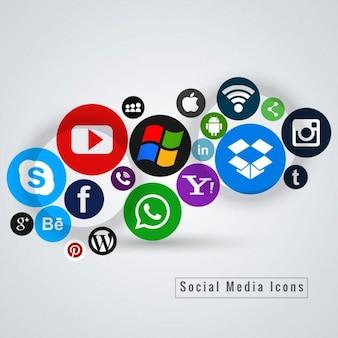 Redes sociales, iconos