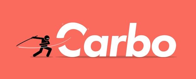 Reducir carbohidratos o carbohidratos para una dieta saludable. concepto artístico de estilo de vida saludable, dieta cetogénica, dejar de comer azúcar y cambios en el estilo de vida.