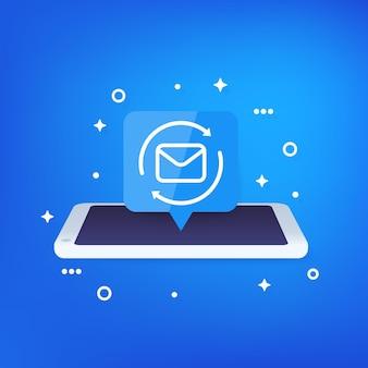 Reenviar el icono de correo con el teléfono