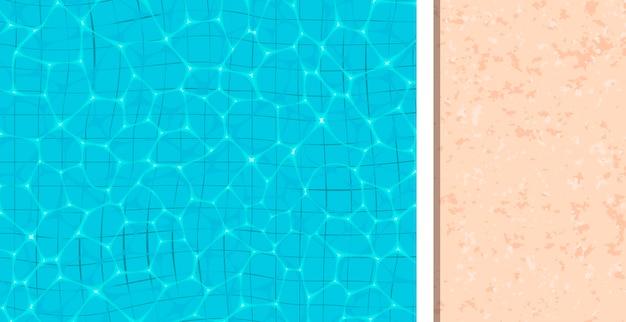 Refrescante piscina azul