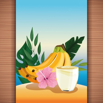 Refresco de verano en zumo de frutas.