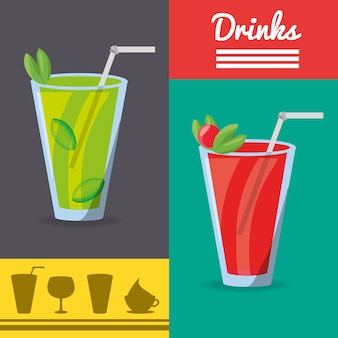 Refrescos licuados bebidas menú restaurante