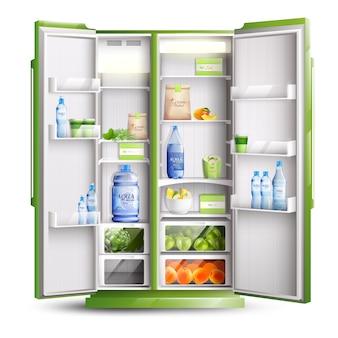 Refrigerador abierto