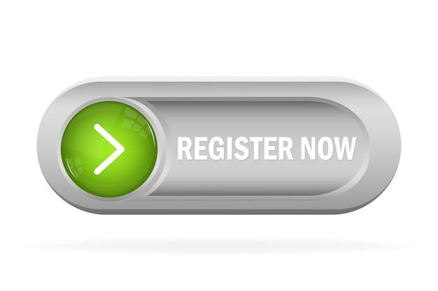 Regístrese ahora para la publicidad web. botón de suscripción. moderno.